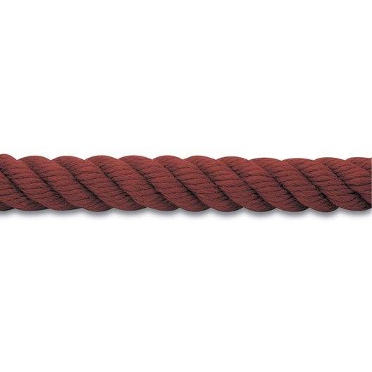 Corde de rampe et accessoires en polypropyl ne diam 32 mm leroy merlin - Rampe d escalier en corde ...