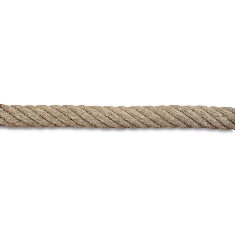 Corde De Rampe Et Accessoires En Chanvre Diam 32 Mm Leroy Merlin