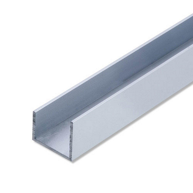 U Carré Aluminium Anodisé, L.2 M X L.1.01 Cm X H.