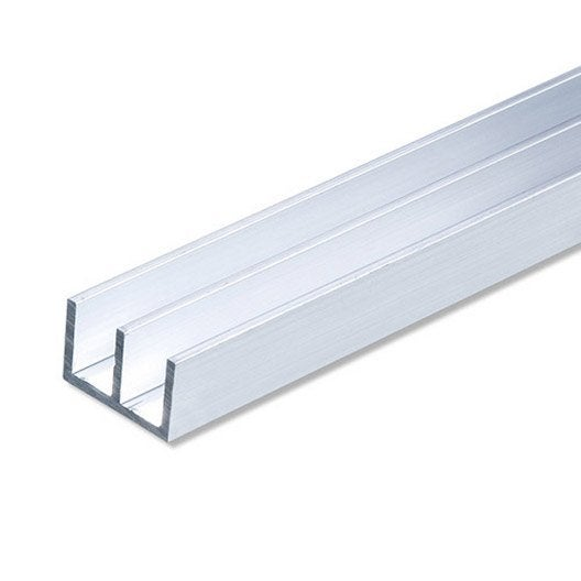 double u aluminium anodis l 1 m x l cm x h 1 cm leroy merlin. Black Bedroom Furniture Sets. Home Design Ideas