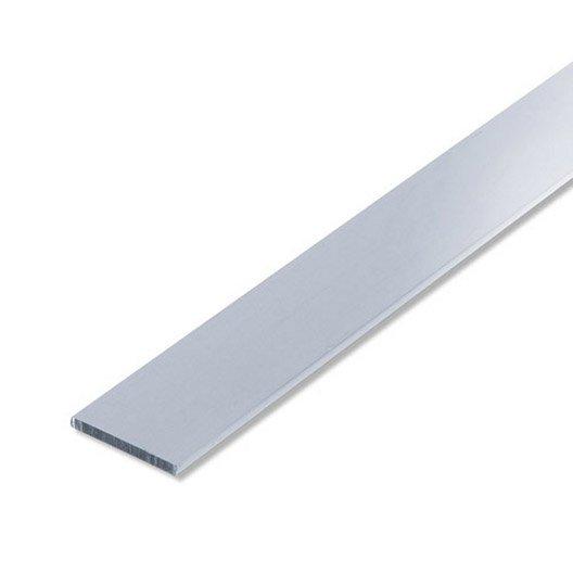 Plat aluminium anodis l 2 m x l 3 cm leroy merlin for Aspect de l aluminium
