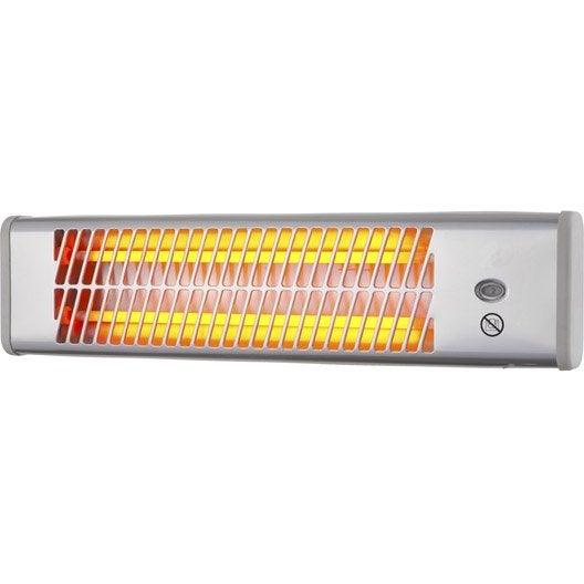 radiateur halogène électrique celcia quint 1200 w | leroy merlin