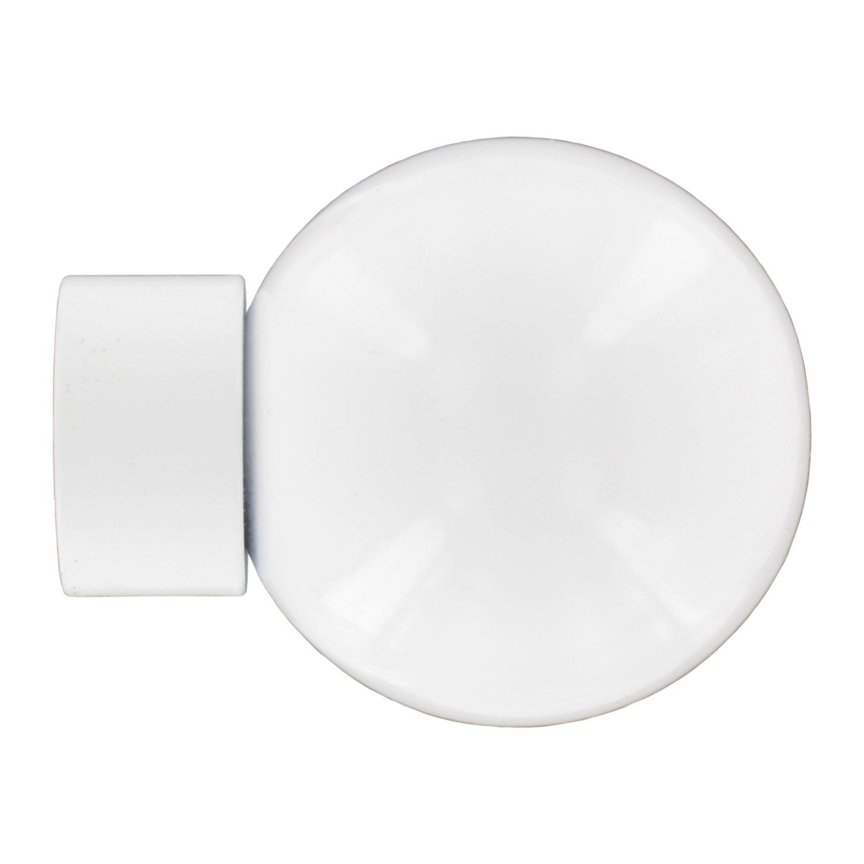 embout inspire blanc brillant pour tringle rideau mm leroy merlin. Black Bedroom Furniture Sets. Home Design Ideas