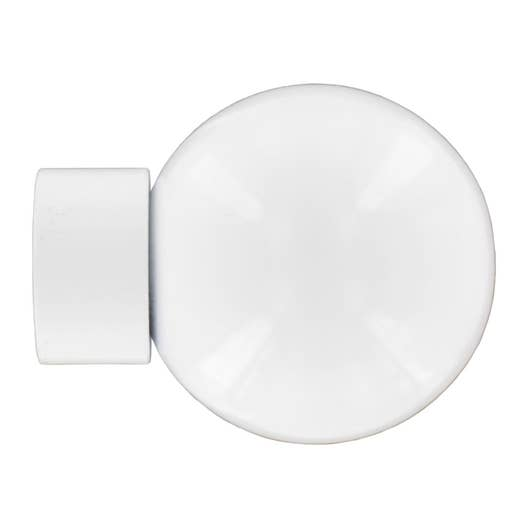 Embout INSPIRE, blanc brillant, pour tringle à rideau Diam.28 mm ...