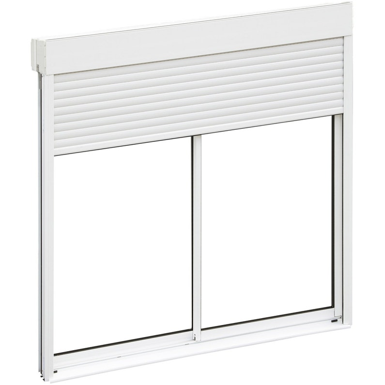 baie vitr e aluminium avec volet roulant brico premium x cm leroy merlin. Black Bedroom Furniture Sets. Home Design Ideas