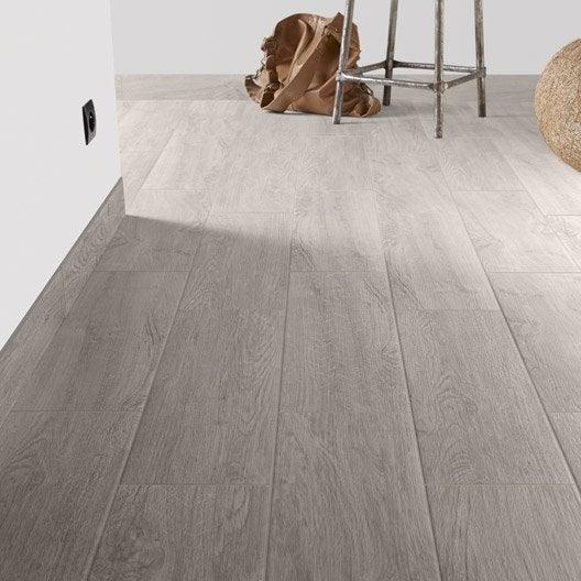 Carrelage sol et mur gris perle effet bois helsinki x - Leroy merlin carrelage imitation bois ...