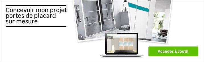 porte de placard sur mesure au meilleur prix leroy merlin. Black Bedroom Furniture Sets. Home Design Ideas