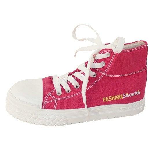 chaussures de s curit hautes fashion s curit rose coloris rose t38 leroy merlin. Black Bedroom Furniture Sets. Home Design Ideas
