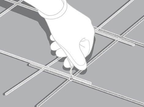 Comment r aliser l armature m tallique du radier leroy - Treillis soude point p ...