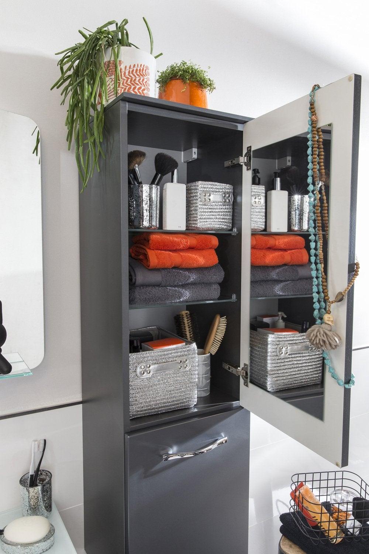 du rangement dans la salle de bains leroy merlin. Black Bedroom Furniture Sets. Home Design Ideas