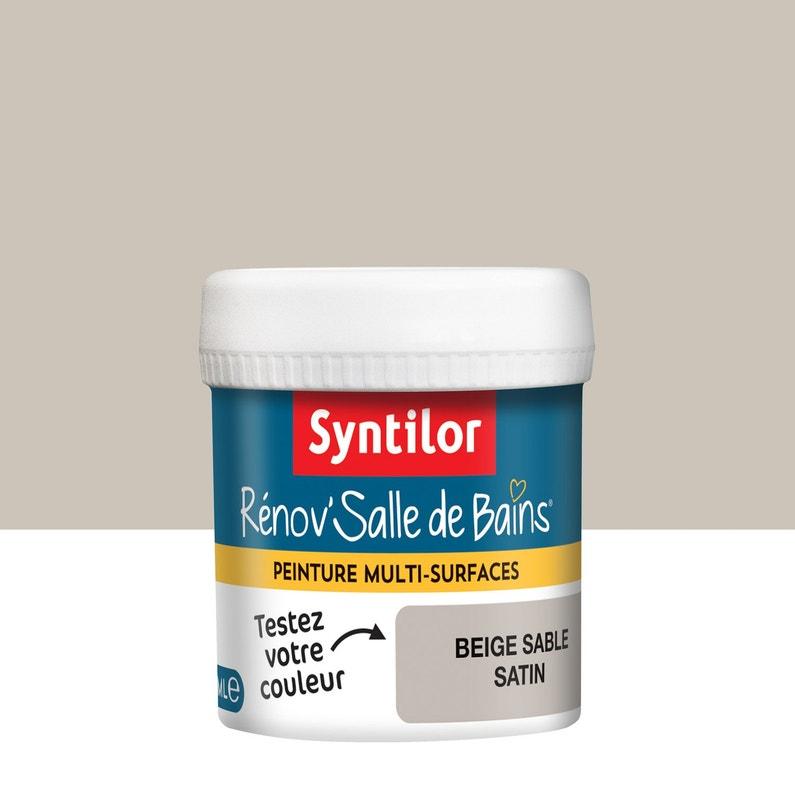 Testeur peinture salle de bain SYNTILOR, beige sable, 0.075 l, satin