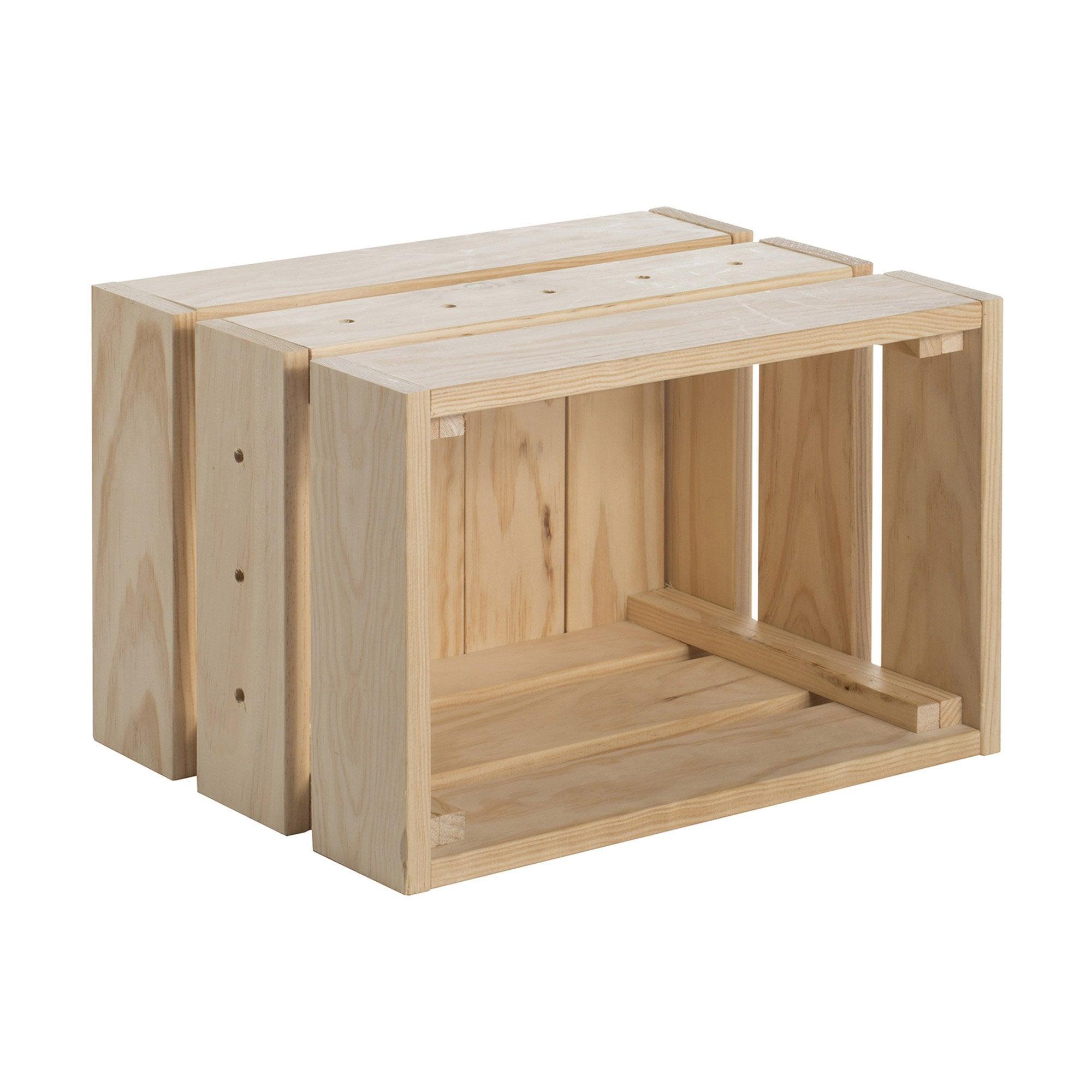 Caisse à monter Home box pin , l.38.4 x P.25.6 x H.28 cm