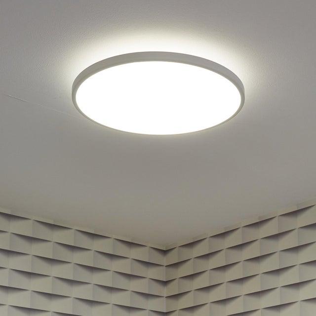 Panneau Led Diam 40 Cm 22 W éclairage Indirect Blanc Chaud à Froid Blanc