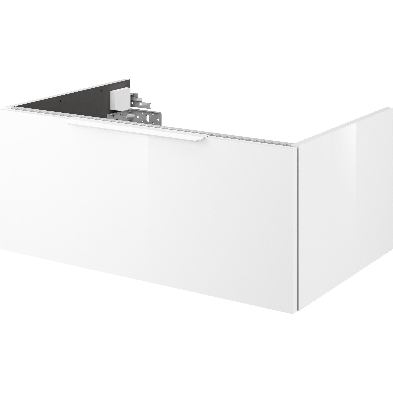 meuble de salle de bains x x cm blanc neo. Black Bedroom Furniture Sets. Home Design Ideas