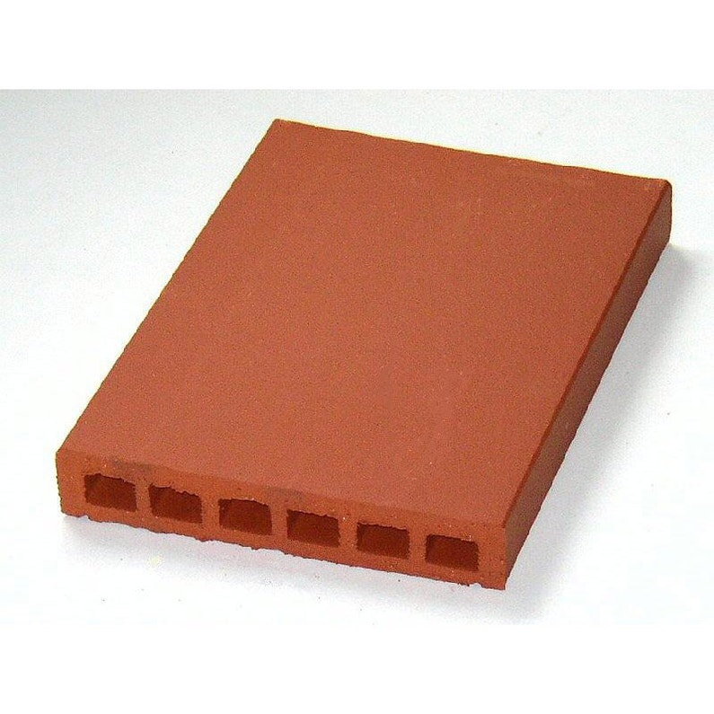 Couvre Mur Plat Lisse Rouge H5 X L40 X P28 Cm