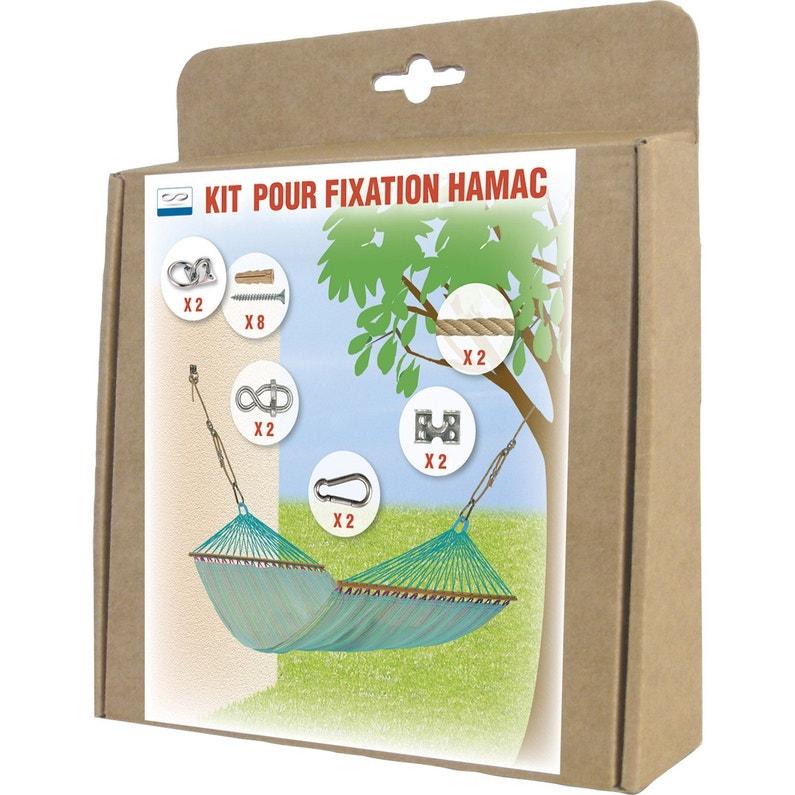 Kit Fixation Hamac En Polypropylène Diam 8 Mm