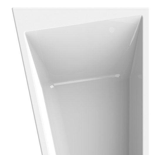 baignoire asym trique gauche cm blanc sensea. Black Bedroom Furniture Sets. Home Design Ideas