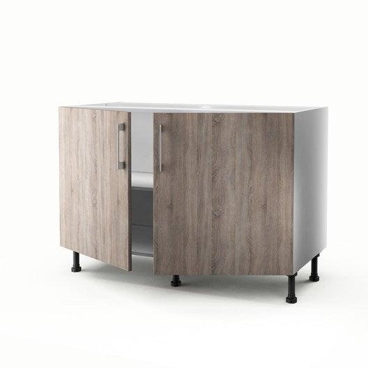Meuble de cuisine sous vier d cor 2 portes topaze x - Meuble sous evier 70 cm ...