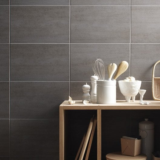 Fa ence mur gris clair eiffel x cm leroy merlin - Credence adhesive leroy merlin ...