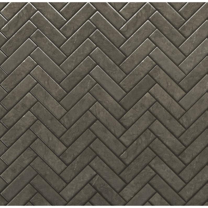 Mosaïque sol et mur Graphik chevron marbre noir | Leroy Merlin