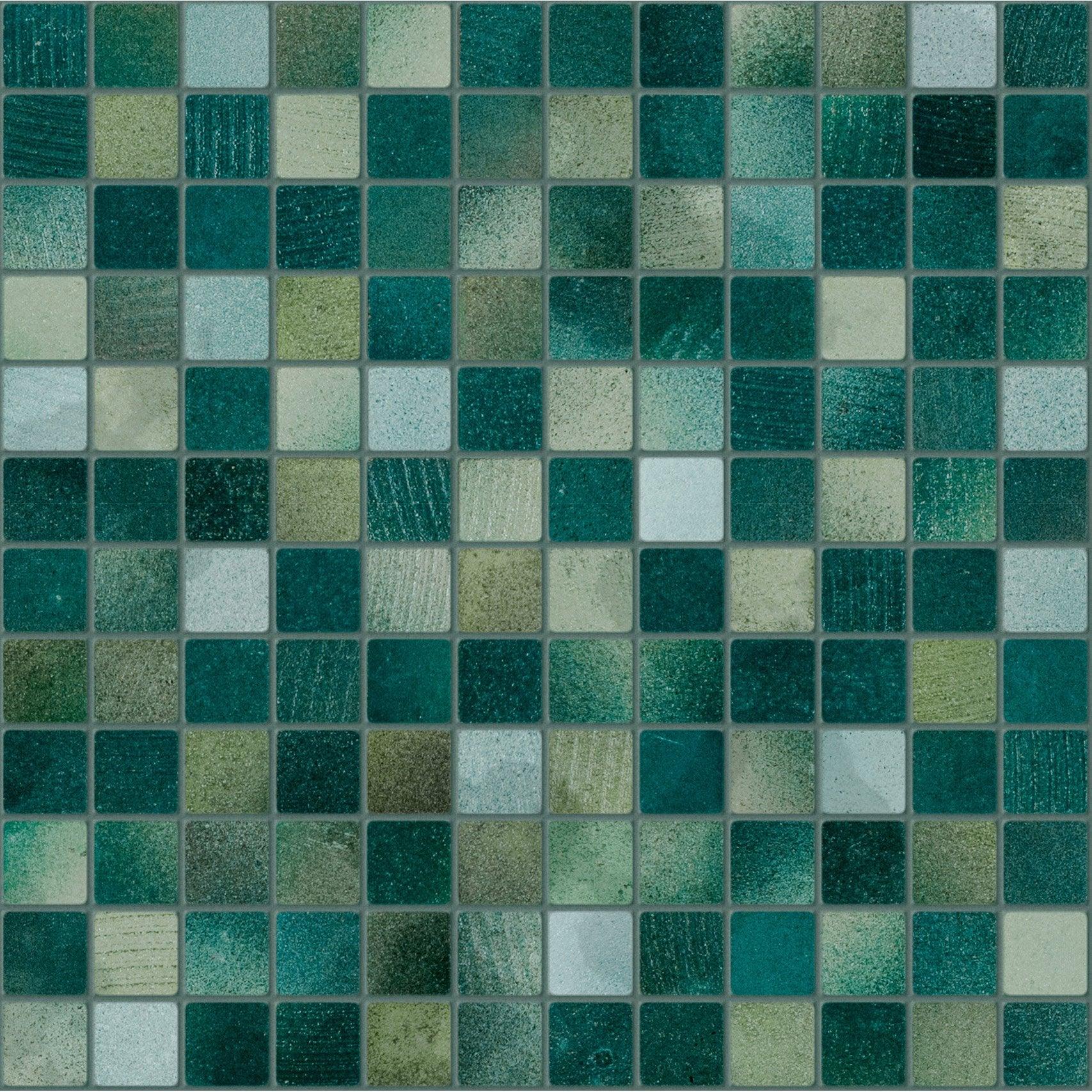 Mosaïque sol et mur Lavastone vert 2.3 x 2.3 cm