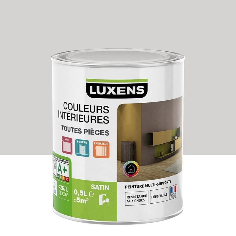 Peinture gris galet 6 satin LUXENS Couleurs intérieures satin 0.5 l ...