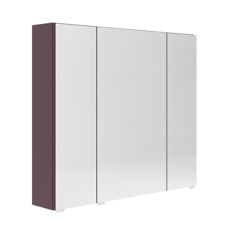 Armoire De Toilette Avec Prise Et Interrupteur.Armoire De Toilette L 80 Cm Aubergine Opale