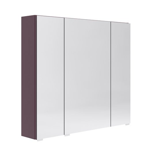 armoire de toilette l 80 cm aubergine opale leroy merlin. Black Bedroom Furniture Sets. Home Design Ideas