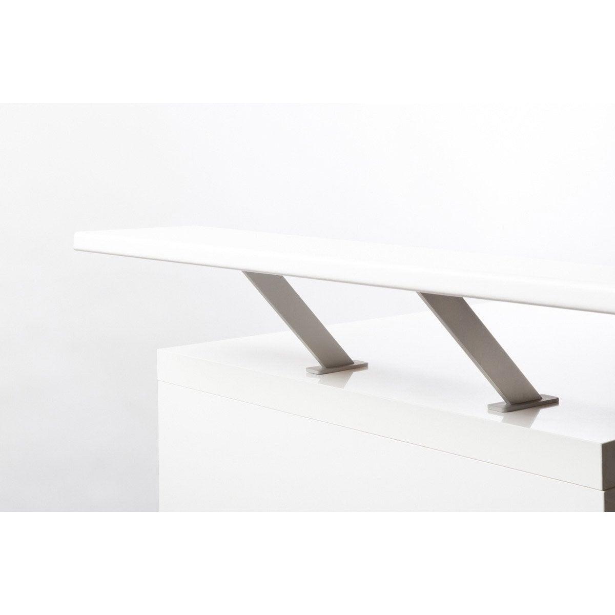 support snack pour tablette en bois gris x l 4 cm leroy merlin. Black Bedroom Furniture Sets. Home Design Ideas