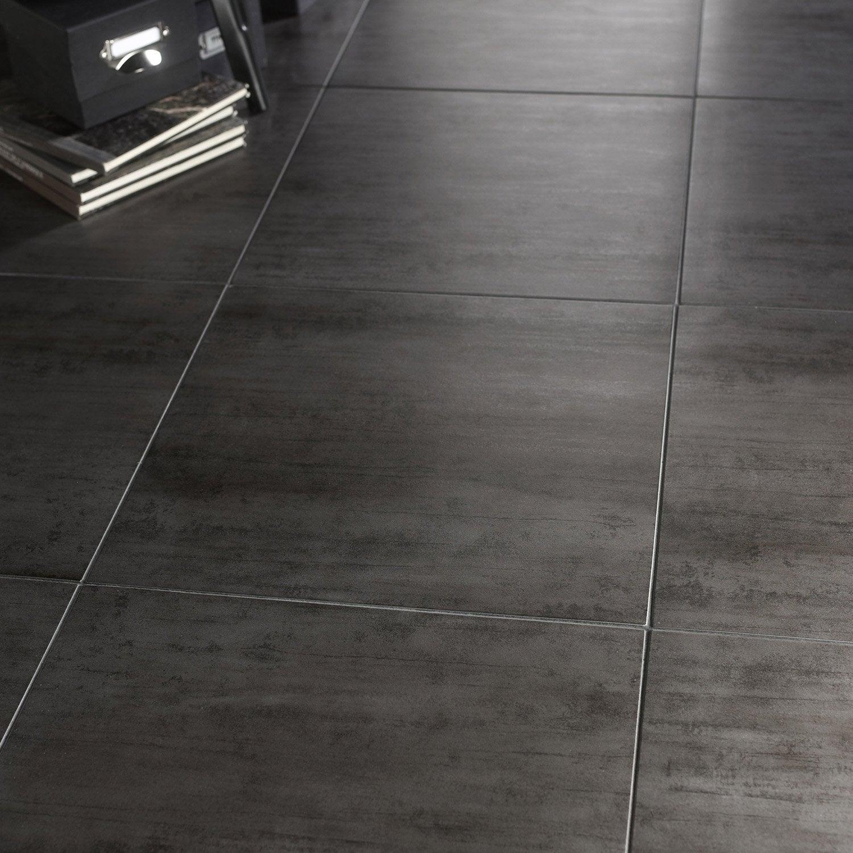 Carrelage sol et mur gris fonc effet b ton eiffel x for Carrelage 30x60