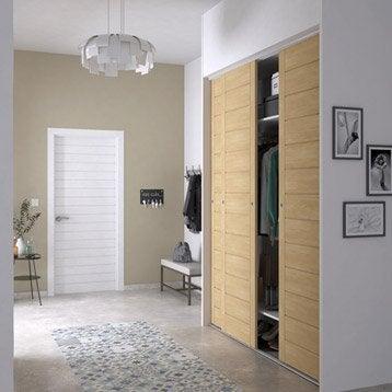 Porte de placard standard coulissante et pliante leroy merlin for Portes coulissantes pour dressing pas cher