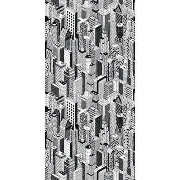 Panneau H.240 cm x l.120 cm, DECO K IN, Black city brillant