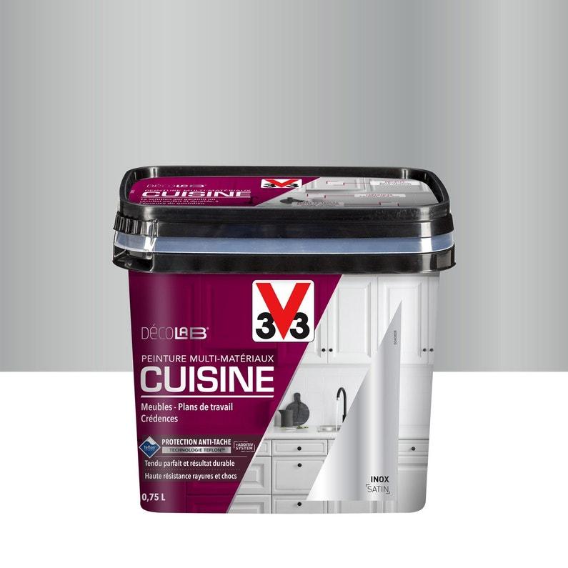 Peinture Cuisine Meubles Crédences V33 Inox 075 L Satin Leroy