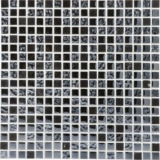 mosaïque et galets pour carrelage de salle de bains | leroy merlin - Salle De Bain Mosaique Noire