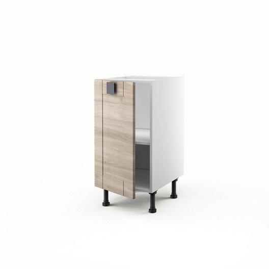 meuble de cuisine bas d cor ch ne blanchi 1 porte karrey h On meuble 70x40