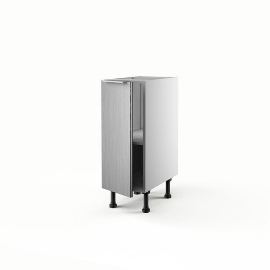 Meuble de cuisine bas d cor aluminium 1 porte stil x for Porte aluminium cuisine