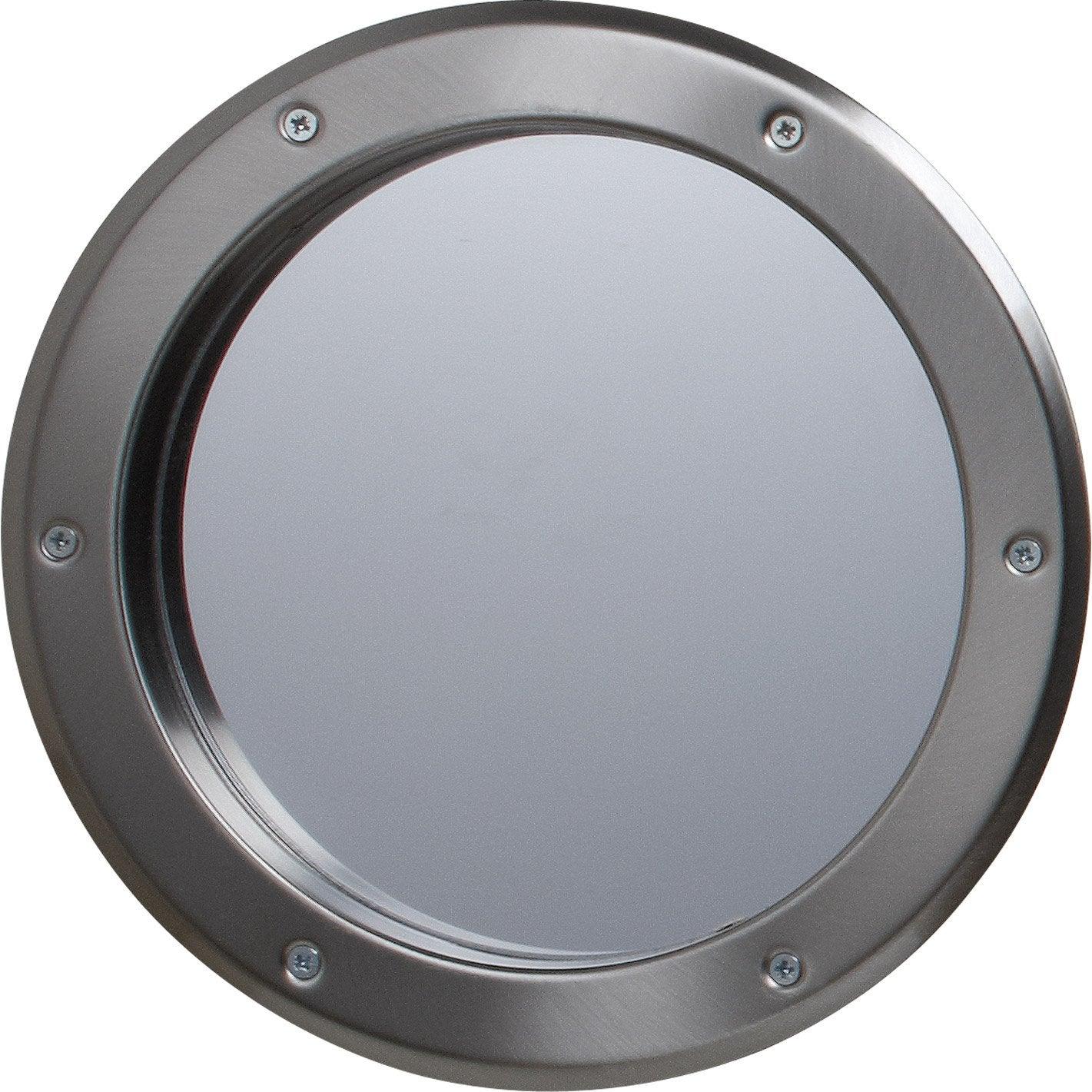 hublot de porte en m tal rond gris m tal 26 cm leroy merlin. Black Bedroom Furniture Sets. Home Design Ideas