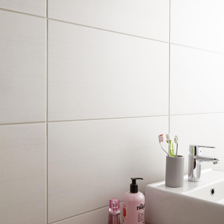 Bon Carrelage Mur Et Sol Béton Blanc Mat L.30 X L.60.4 Cm,
