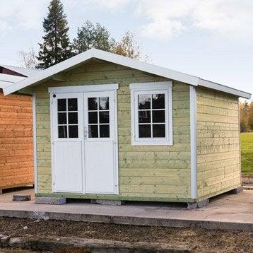 Abri de jardin bois Lillevilla 410, 8.67 m² Ep.28 mm