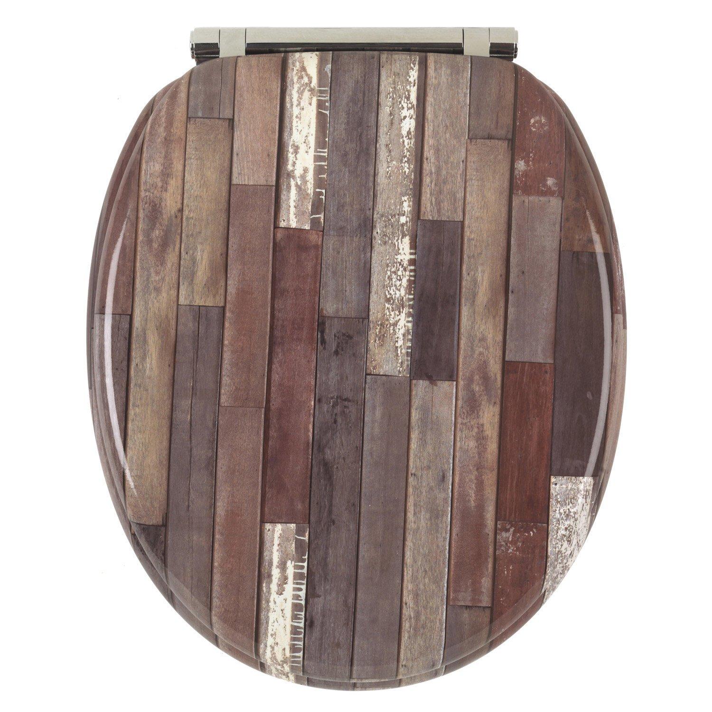 abattant frein de chute d clipsable multicolore bois. Black Bedroom Furniture Sets. Home Design Ideas
