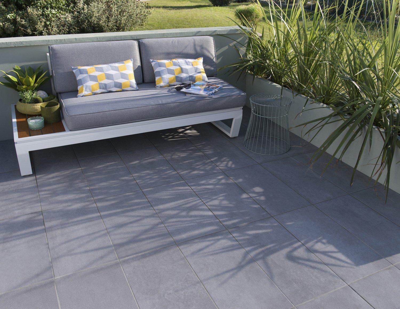 Carrelage de sol exterieur gris anthracite   Leroy Merlin