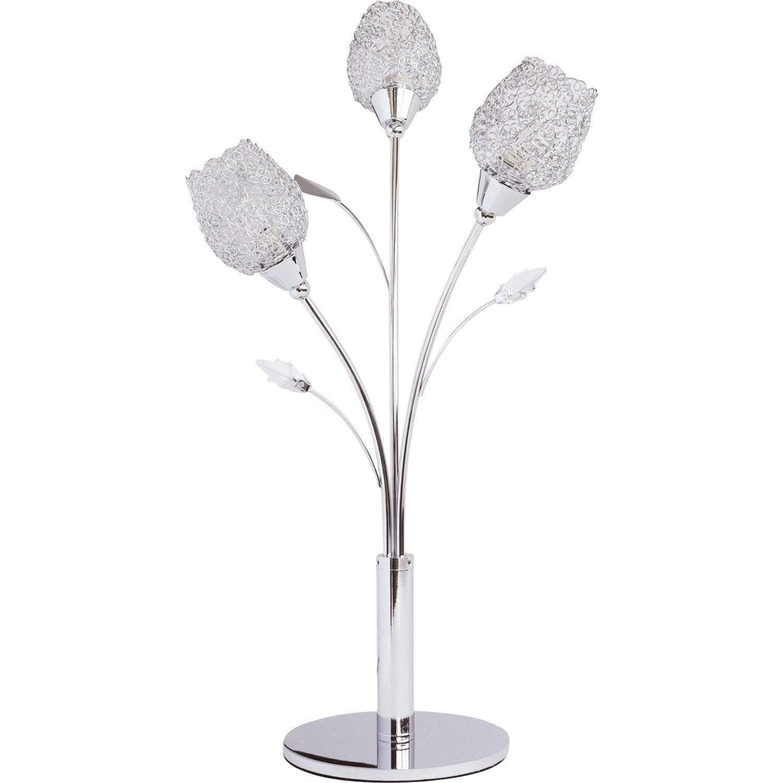 Lampe, g9 Adriana SEYNAVE, métal chrome, 28 W