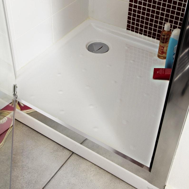 receveur de douche carr x cm gr s blanc asca2. Black Bedroom Furniture Sets. Home Design Ideas