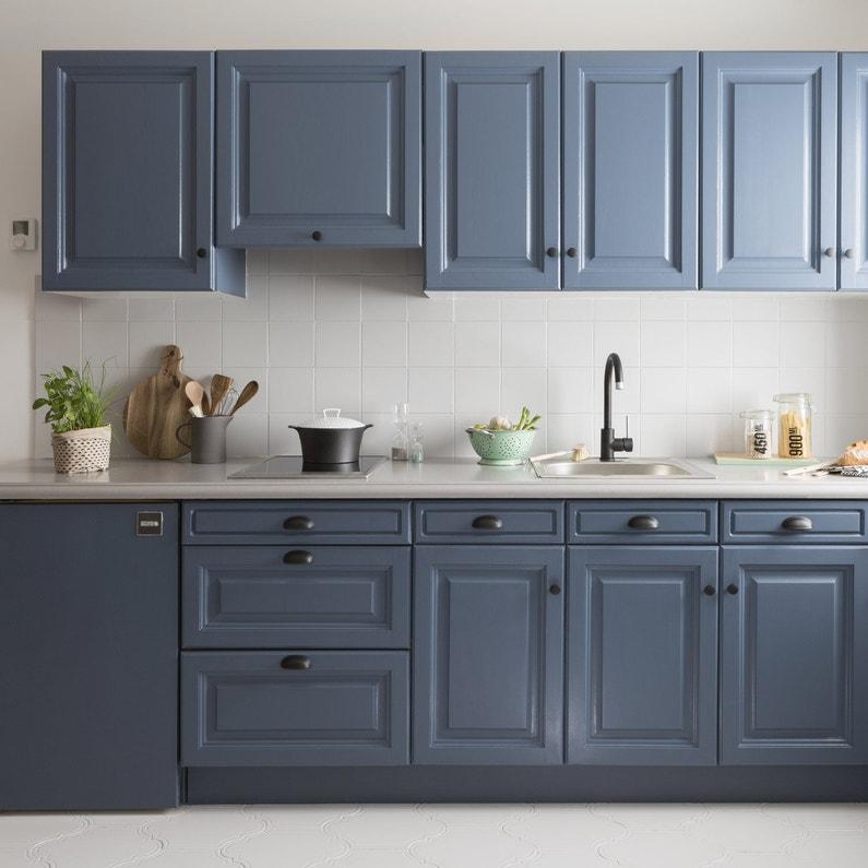 Peinture mur, boiserie, radiateur Cuisine meubles, crédences V33, bleu  carbone,