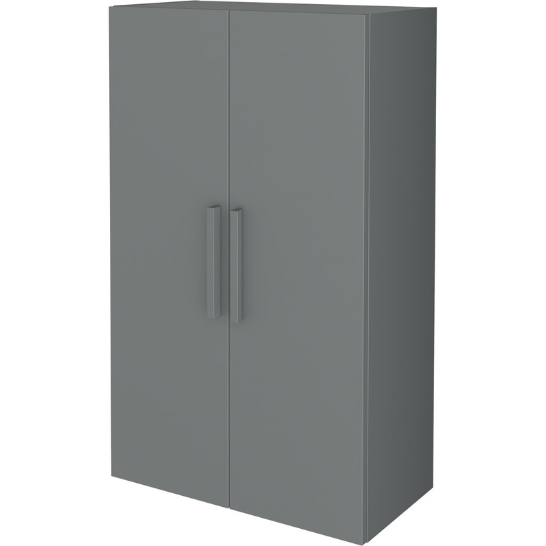 Armoire Spaceo Home Gris H 100 X L 60 X P 30 Cm Leroy Merlin