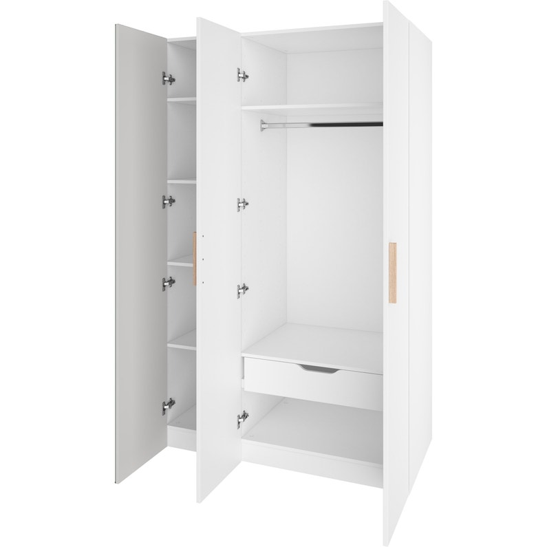 Armoire Spaceo Home Blanc H 200 X L 120 X P 60 Cm Leroy Merlin