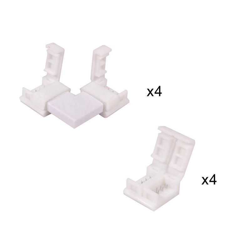 Kit De 8 Connecteurs Pour Ruban Led Ledflexi Inspire Leroy Merlin