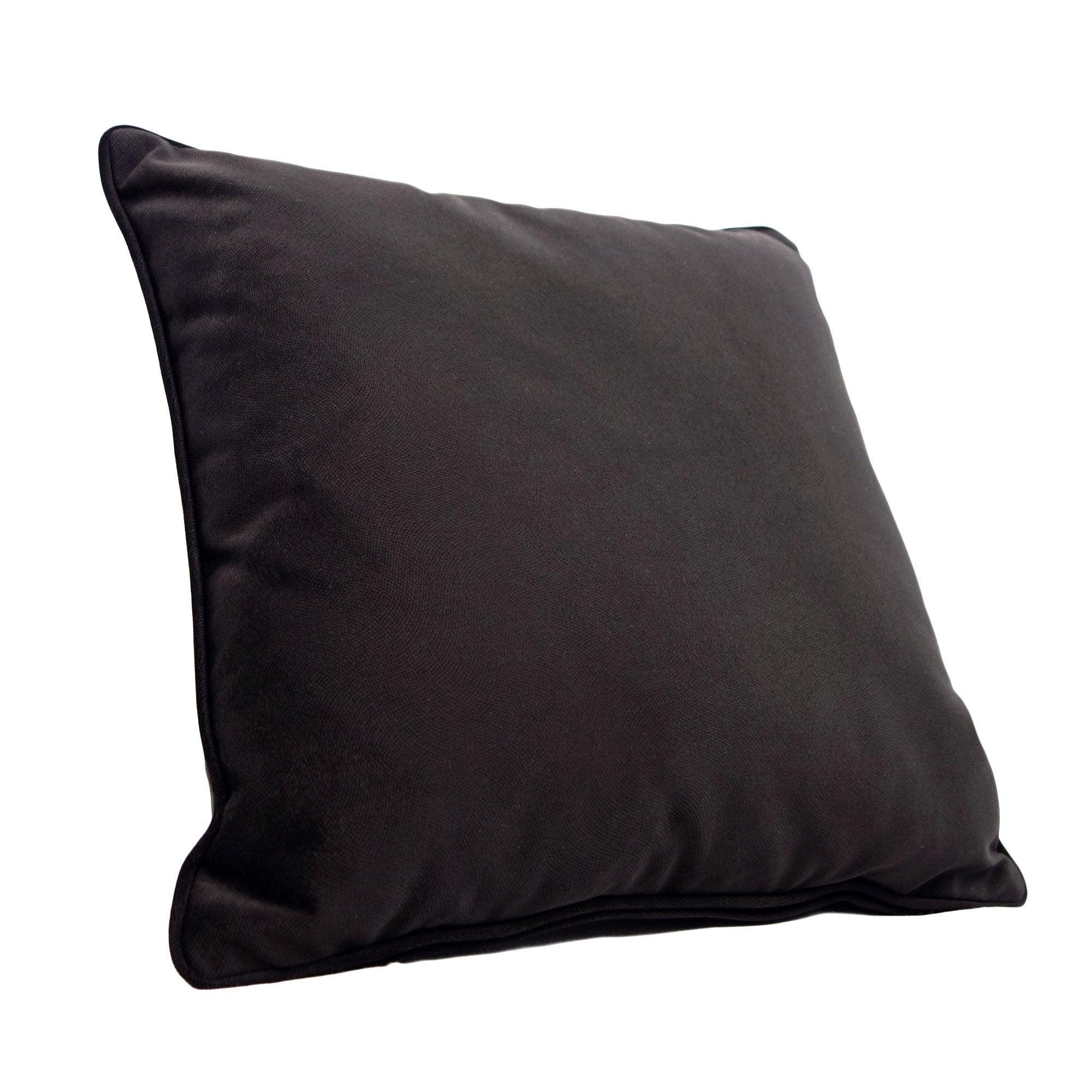 Coussin Cambridge, noir l.60 x H.60 cm