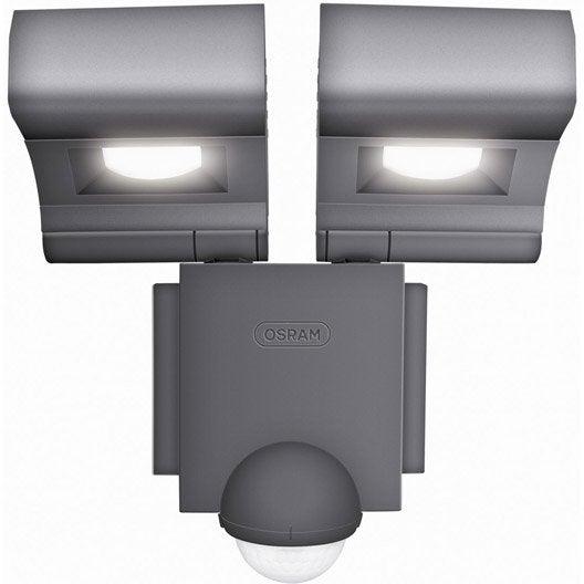 projecteur à fixer à détection extérieur led intégrée 2x8 w = 860