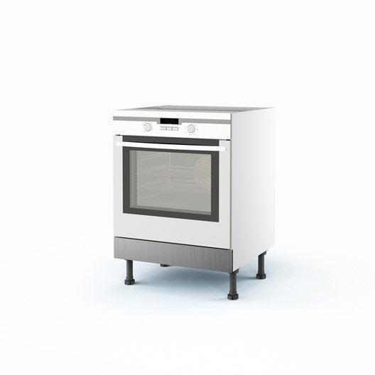 Meuble de cuisine bas d cor aluminium four stil x l for Produit cuisine